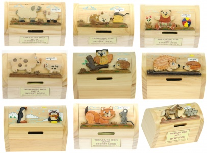 5215: Animal Money Box Treasure Chests (Pack Size 15) Price Breaks Available