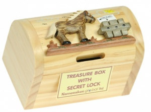 5215-HR: Horse Money Boxes (Hidden Lock) (Pack Size 3) Price Breaks Available