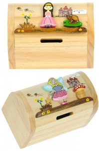 5215G: Girls Princess & Fairy Money Boxes (Hidden Lock) (Pack Size 6) Price Breaks Available