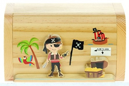 5215-PR: Pirate Money Boxes (Hidden Lock) (Pack Size 6) Price Breaks Available