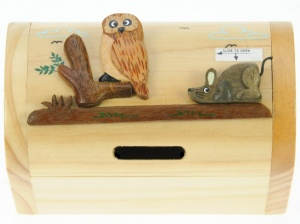 Money Box Treasure Chests - Owl  (Pack Size 10)
