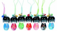 Japanese Kokeshi Doll Charms  (Pack Size 120) - 40% OFF