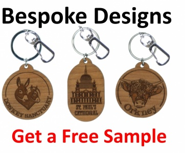 5001B: Bespoke Design Keyrings - Contact Us for details