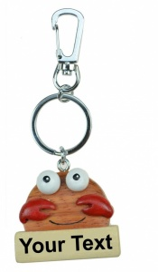 5001CR: Crab Keyrings - Your Name (Pack Size 36) Price Breaks Available