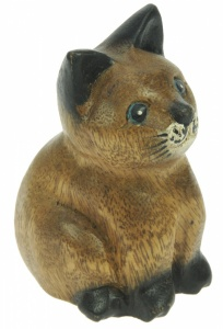 CT-SM - LAST FEW - Carved Cat (Height 10cm) (Pack Size 5)