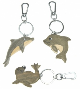 Keyrings - Dolphins & Seals  (Pack 30)