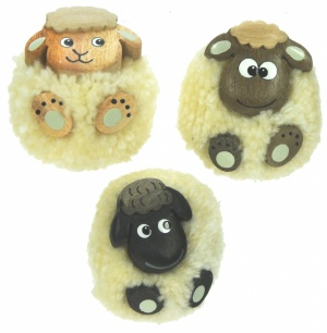 Pom Pom Magnets - Sheep (Pack Size 60)