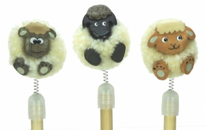5070P-SH  Sheep Pom Pom Pencils (Pack Size 36)