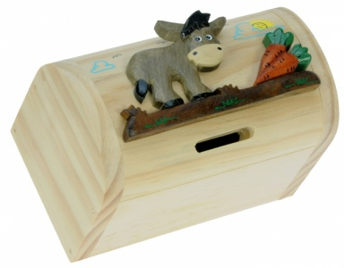 5215-DK: Donkey Money Box Treasure Chests (Pack Size 3) Price Breaks Available