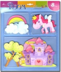 Wall Stickers - 3-D Designs for Girls  (Pack Size 24) - (50% OFF)