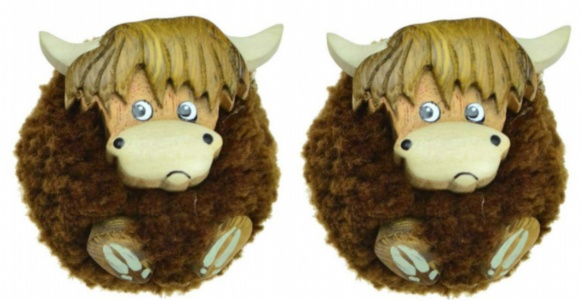 5043P-HC:  Highland Cow Pom Pom Magnets (Pack Size 36) Price Breaks Available