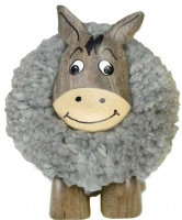 5501-DKY : Donkey Pom Pom Figurine - Approx Height 65mm (Pack Size 24) Price Breaks Available