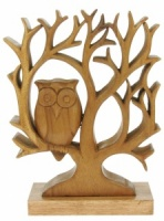 Wooden Tree With Owl On Base (Pack Size 5)