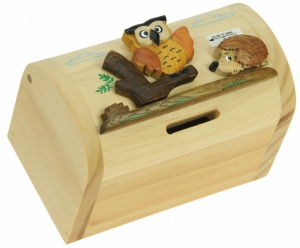 5215-OW: Owl Money Boxes (Hidden Lock) (Pack Size 3) Price Breaks Available