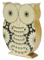 YP12 : Carved Owl Shabby Chic  (24 x 19cm) (Pack Size 3)