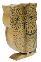 Hand Carved Owl  (Pack Size 6) - (50% OFF)