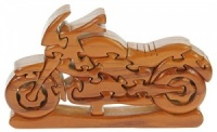 PU26: Classic Motorbike 3-D Wooden Puzzle (Pack Size 5) Price Breaks Available