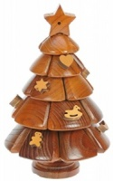 PU42: Christmas Tree 3-D Wooden Puzzle (Pack Size 5) Price Breaks Available
