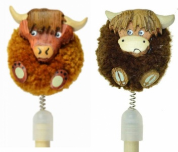 5004P-HC Pencils Pom Pom - Highland Cows  (Pack Size 36) Price Breaks Available