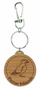 5001B-PF: Bespoke Puffin Keyrings - Your Text (Pack Size 36) Price Breaks Available