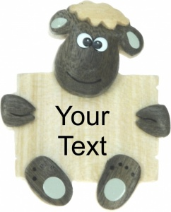5043S-SH-PL:  Sheep Magnets - Your Text (Pack Size 100)