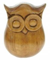 YP09 - Hand Carved Owl (15 x12cm) (Pack Size 5)