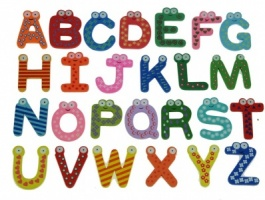 Wooden Toys - Alphabet Set  (Package Size 6)