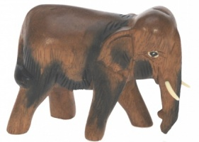 Hand Carved Wood - Elephant  (Small)  (Pack Size 5)