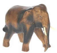 Hand Carved Wood - Elephant (Medium)  (Pack Size 3)