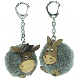 5001P- DKY :Donkey Pom Keyrings (Pack Size 36) Price Breaks Available
