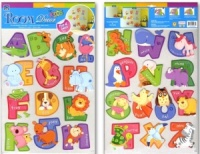 Wall Stickers - ABC Cartoon Animal Alphabet  (Pack Size 6)