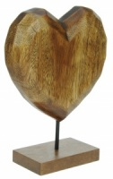 Hand Carved Heart on Base (Pack Size 3) - (40% OFF)