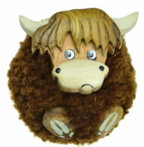5043P-HC:  Highland Cow Pom Pom Magnets  (Pack Size 36)