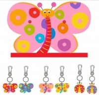Keyrings - Butterfly & Ladybird  (Pack Size 36) Includes FREE Display