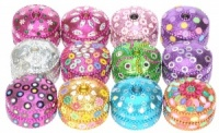 NS02: Glittery Round Boxes - Medium  (Pack Size 24)