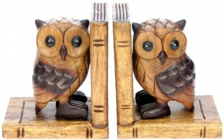 Bookends - Hand Carved - Owl  (Pack Size 3)
