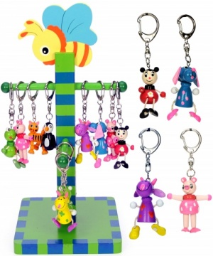 Z001 : Colourful Animal Keyrings  (Pack Size 72) Price Breaks Available